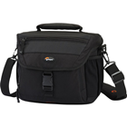 Nova 180 AW - Black & chesnut brown A thoughtful, weather-protective DSLR shoulder bag packed with premium features