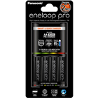 Panasonic Eneloop Quick Charger with 4x AA Rechargeable Battery Eneloop Pro BK-3HCDE  & CHARGER BQ-CC55E