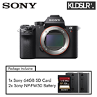 Save RM1300! Sony Alpha a7R II (Body Only) (Free Sony 64GB Memory Card + 2 Battery) (Sony Malaysia)