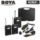 (CNY2019) BOYA BY-WM8 UHF Lavalier Microphone Canon Sony DSLR Camera