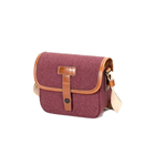 Herringbone Muppen Canvas Camera Bag (Wine)