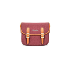Herringbone Maniere Small Camera Bag (Wine)