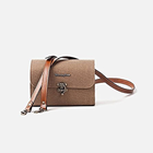 Herringbone Tiny Mellow Canvas Camera Bag (Khaki)