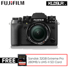 Save RM800! Fujifilm X-T2 Mirrorless Digital Camera with 18-55mm f/2.8-4 R (Free Sandisk 32GB Extreme Pro 280MB/s UHS-II SD Card) (Fujifilm Malaysia)