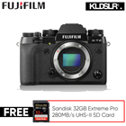 Save RM800! Fujifilm X-T2 Mirrorless Digital Camera (Body Only) (Black) (Free Sandisk 32GB Extreme Pro 280MB/s UHS-II SD Card) (Fujifilm Malaysia)