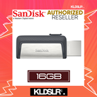 SanDisk Ultra Dual Drive 16GB 130MB/s USB Type-C for Android Smartphone & Tablets (SDDDC2-016G-G46) (SanDisk Malaysia)