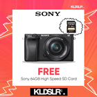 (CNY2019) Sony Alpha a6300 Mirrorless Digital Camera with 16-50mm Lens (Black) (Sony Malaysia) (FREE Sony 64GB High Speed Memory Card)