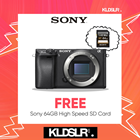 Sony Alpha a6300 Mirrorless Digital Camera (Black) (Body Only) (Sony Malaysia) (Free Sony 64GB High Speed Memory Card)