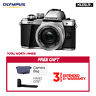 Olympus OMD EM10 Mark II Mirrorless Micro Four Thirds Digital Camera with 14-42mm EZ Lens (Silver) (Olympus Malaysia)(Free Camera Bag + Hand Grip)  (EM10)