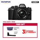 Olympus OMD EM10 Mark II Mirrorless Micro Four Thirds Digital Camera with 14-42mm EZ Lens (Black) (Olympus Malaysia)(Free Camera Bag + Hand Grip) (EM10)