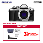 Olympus OMD EM10 Mark II Mirrorless Micro Four Thirds Digital Camera (Body Only, Silver) (Olympus Malaysia)(Free Camera Bag + Hand Grip) (EM10)