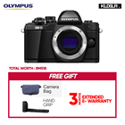 Olympus OMD EM10 Mark II Mirrorless Micro Four Thirds Digital Camera (Body Only, Black) (Olympus Malaysia)(Free Camera Bag + Hand Grip) (EM10)
