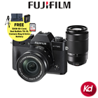 Fujifilm X-T20 Mirrorless Digital Camera with 16-50mm and 50-230mm Kit Lens (Black) (Free 32GB Card + Original Fuji Battery) (Fujifilm Malaysia) (XT20)