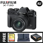 Fujifilm X-T20 Mirrorless Digital Camera with 15-45mm Lens (Black) (Fujifilm Malaysia) (FREE 32GB High Speed Memory Card, Extra Original Battery & Camera Bag) (XT20)