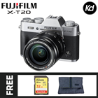 Fujifilm X-T20  with 18-55mm Lens (Silver) (FREE 32GB High Speed Memory Card & Camera Bag) (Fujifilm Malaysia) (XT20)
