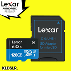 Lexar High-Performance 128GB 633x microSDXC UHS-I Memory Card with SD Adapter (LSDMI128BBAP633A)