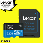 Lexar High-Performance 32GB 633x microSDHC UHS-I Memory Card with SD Adapter (LSDMI32GBBAP633A)
