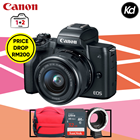 Canon EOS M50 with 15-45mm Lens (Black) (Canon Malaysia) (FREE Sandisk 32GB SD Card + Canon Bag) (PACKAGE INCLUDES Viltrox Canon Adapter) (PRICE DROP)
