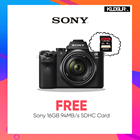 Sony a7II with FE 28-70mm f3.5-5.6 OSS Lens (FREE 16GB 94MB/s SD Card) (Sony Malaysia)