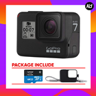 GoPro HERO7 Black (GoPro Hero 7)  (Package With 64GB + Gopro Sleeve)