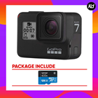 GoPro HERO7 Black (GoPro Hero 7) (Package With 128gb)