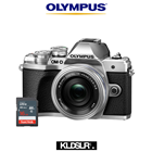 Olympus OMD EM10 Mark III Mirrorless Micro Four Thirds Digital Camera with 14-42mm EZ Lens (Silver) (Olympus Malaysia) (FREE 16GB SD Card)