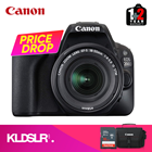 Canon EOS 200D DSLR Camera with 18-55mm Lens (Black) (Canon Malaysia) (FREE 16GB Memory Card & Camera Bag)