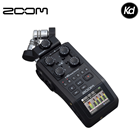 Zoom H6 All Black 6-Input / 6-Track Portable Handy Recorder with Single Mic Capsule (Black Finish)