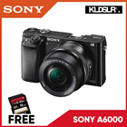 Sony a6000 with 16-50mm Lens (Black) (Sony Malaysia) (Free Sony 16GB Memory Card)