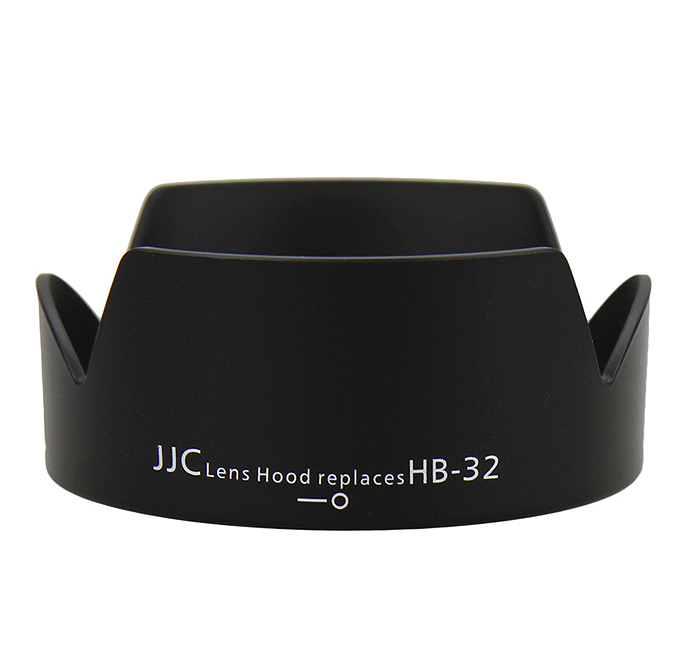 JJC LH-32 Lens hood replaces NIKON HB-32 for AF-S NIKKOR 18-105mm f/3.5-5.6G ED VR, 18-140mm f/3.5-5.6G ED VR, 18-135mm f/3.5-5.6G IF-ED, 18-70mm f/3.5-4.5G IF-ED