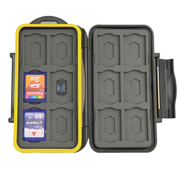 JJC MC-SDMSD24 Tough Case for SANDISK LEXAR SONY Memory Cards (12xSD / 12x mSD)