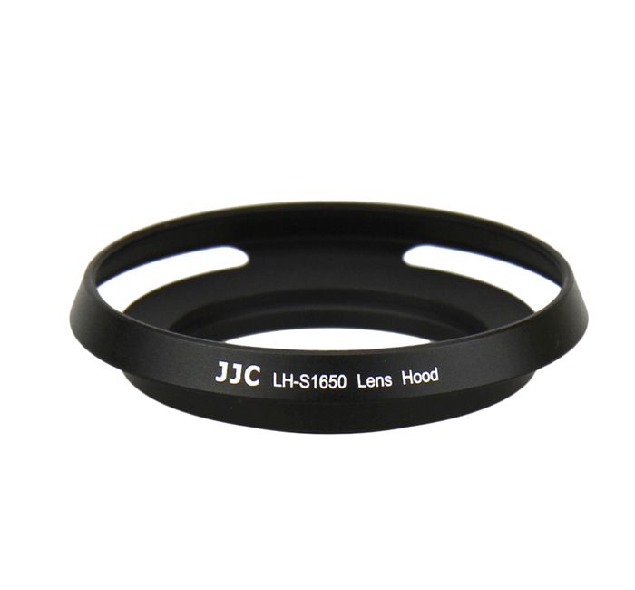 JJC LH-S1650 BLACK Screw-in Metal Lens hood for SONY E PZ 16-50mm OSS / NIKON 1 Nikkor 10mm f2.8 / SAMSUNG 20-50mm