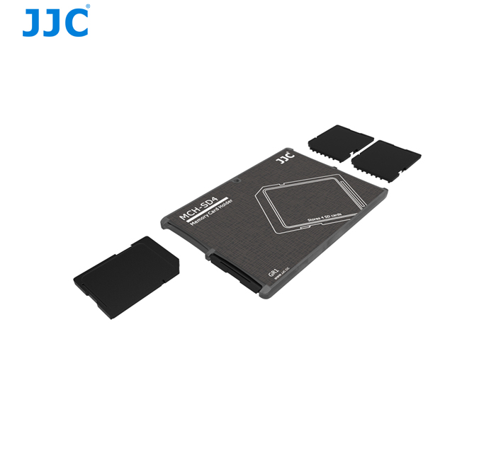 JJC MCH-SD4 Memory Card Holder for 4x SANDISK LEXAR SONY SD