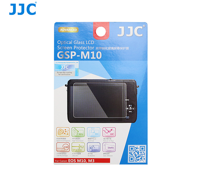 JJC GSP-M10 Ultra-thin Optical Glass LCD Screen Protector for Canon EOS M10 / EOS M3 / Powershot G1X Mark II