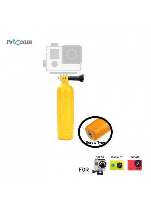 "Proocam F007 : Multi Function Floaty Bobber with Thumb Screw & 1/4"" Screw Thread for GoPro Hero / XiaoMi Yi / SJCAM"
