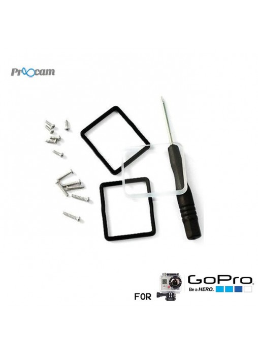 Proocam J031 : Lens Replacement Kit for GoPro HERO 4 / HERO 3+ Dive Housing