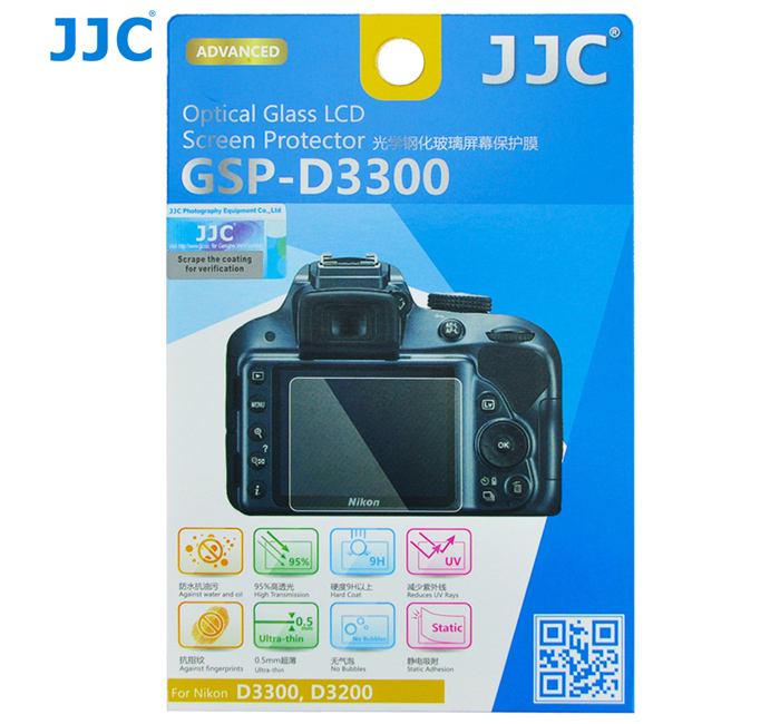 JJC GSP-D3300 Ultra-thin Optical Glass LCD Screen Protector for Nikon D3500 / D3400 / D3300 / D3200