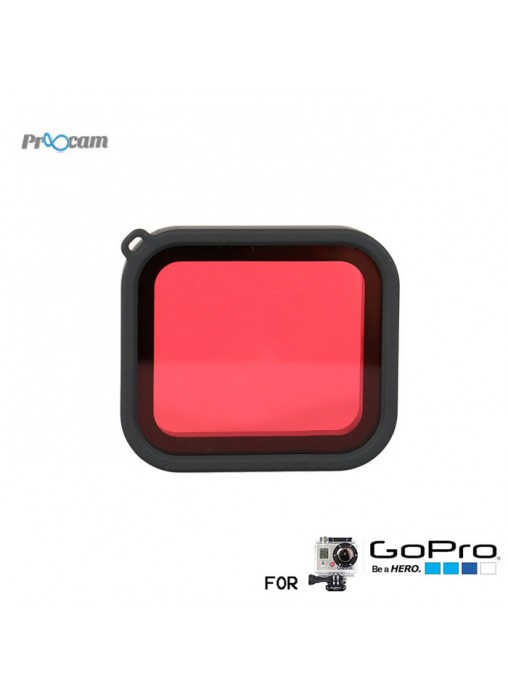 Proocam F220 Snap-on Red Filter for Dive Housing for PROOCAM F210 Waterproof Casing