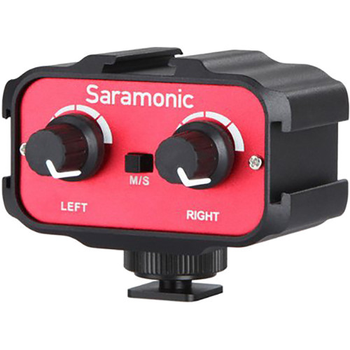 Saramonic SR-AX100 Passive 2-Channel Audio Adapter for DSLR Cameras