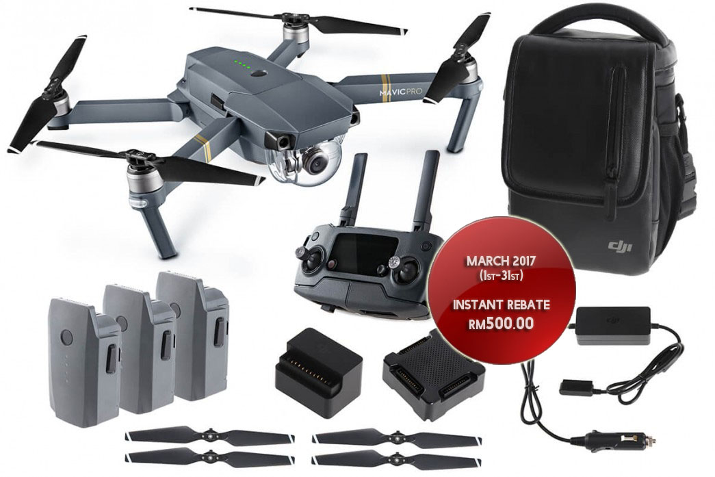(END YEAR SALE) DJI Mavic Pro Fly More Combo Quadcopter