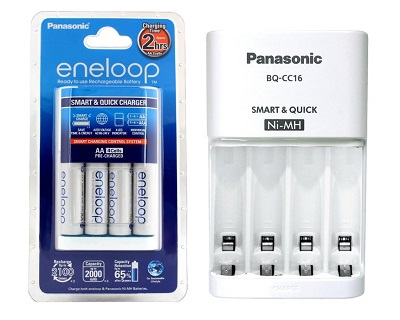 (SALES)  PANASONIC ENELOOP 2HR CHARGER WITH 4 PCS 2000MAH AA BATTERY K-KJ16MCC40E
