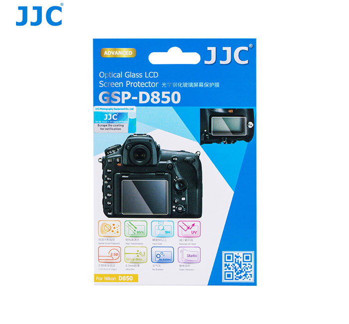 JJC GSP-D850 Ultra Thin Optical Glass LCD Screen Protector for Nikon D850