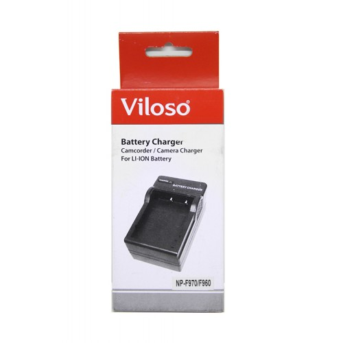 Viloso Battery Charger For Sony NP-F960 NP-F970
