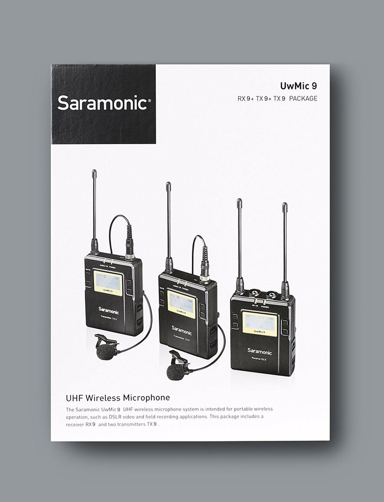Saramonic UwMic9 (2TX9+RX9) UHF Wireless Microphones with 2 Transmiters