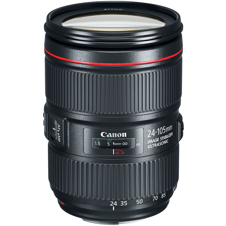 (9.9) Canon EF 24-105mm f/4L IS II USM Lens (Canon Malaysia) - WHITE BOX FROM 5D MARK IV
