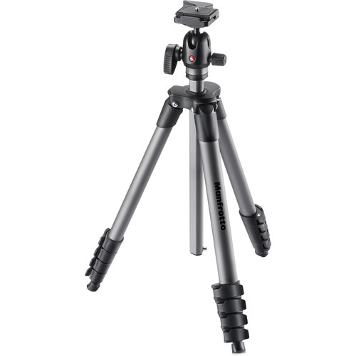 (MIDYEAR) Manfrotto Compact Advanced Aluminum Tripod with Ball Head - #MKCOMPACTADVBH