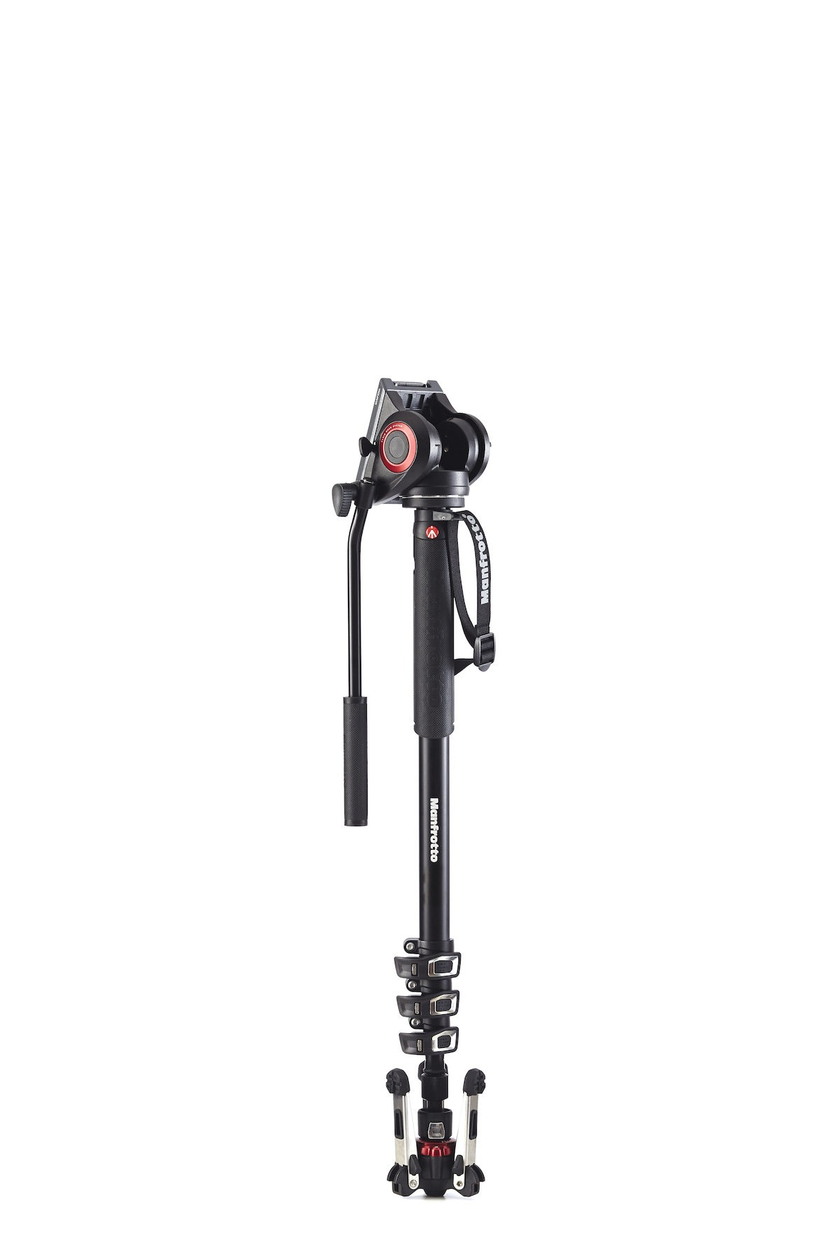 (9.9) MANFROTTO XPRO Monopod+ Four-Section Alu w/ Fluid Video Head MVMXPRO500 (MVMXPROA4 + MVH500)