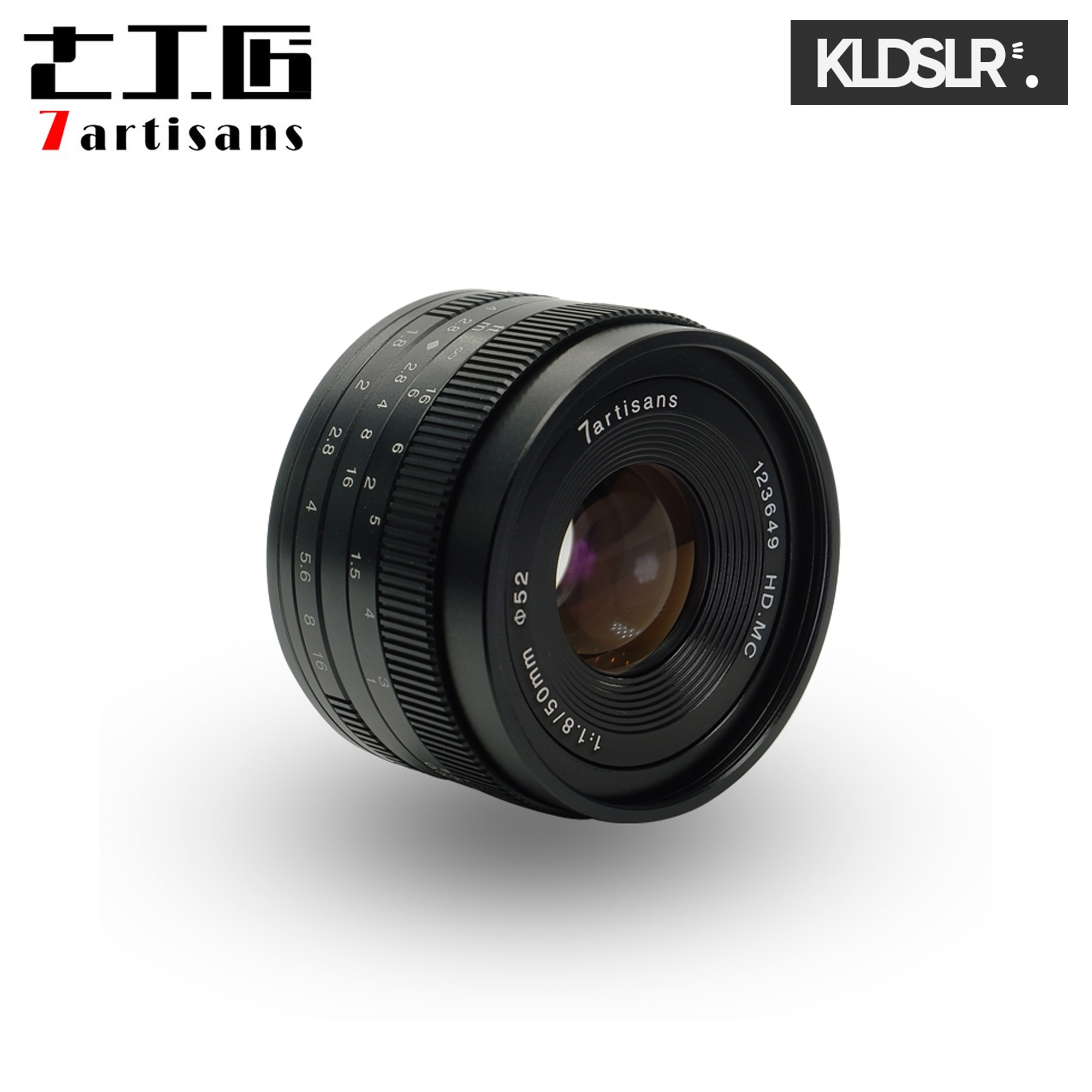 (MERDEKA) 7artisans Photoelectric 50mm f/1.8 Lens for Canon EOS M-Mount Cameras (Canon Mirrorless)