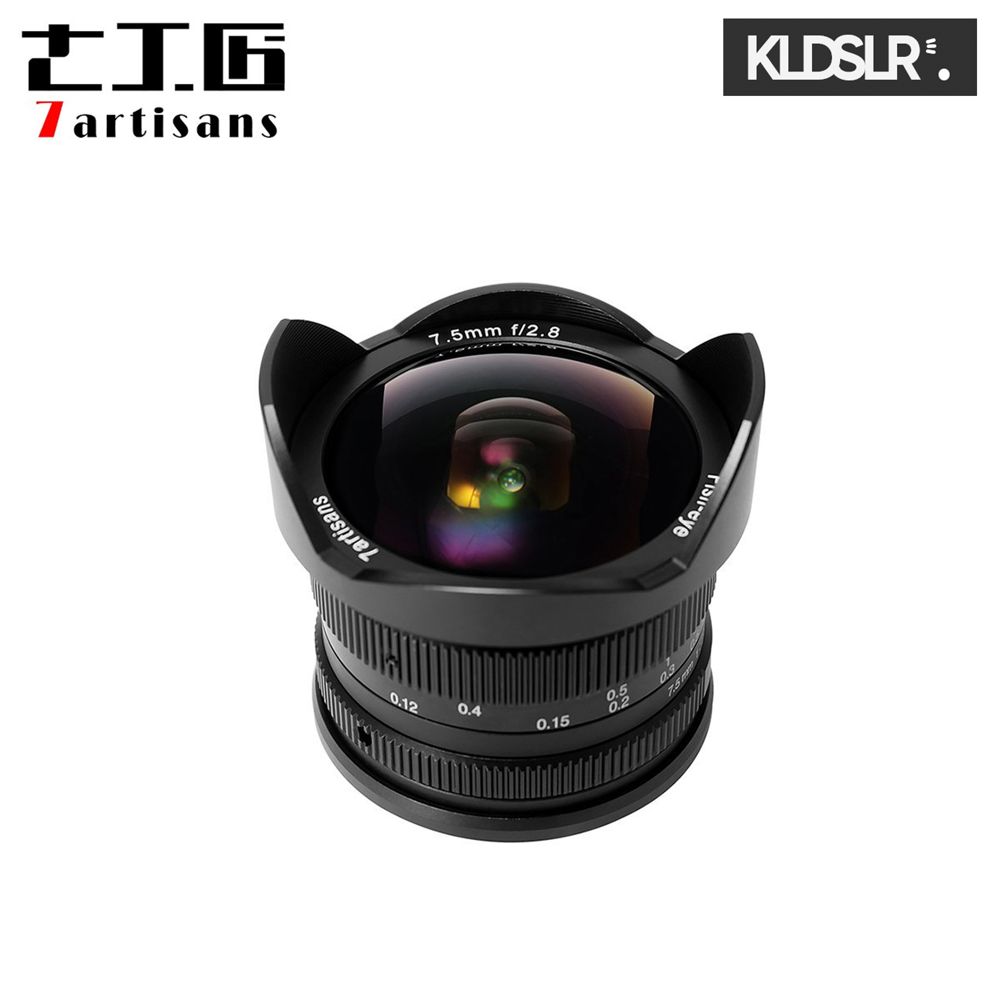 (Clearance) 7artisans Photoelectric 7.5mm f/2.8 Fisheye Lens for Fuji FX-Mount Cameras