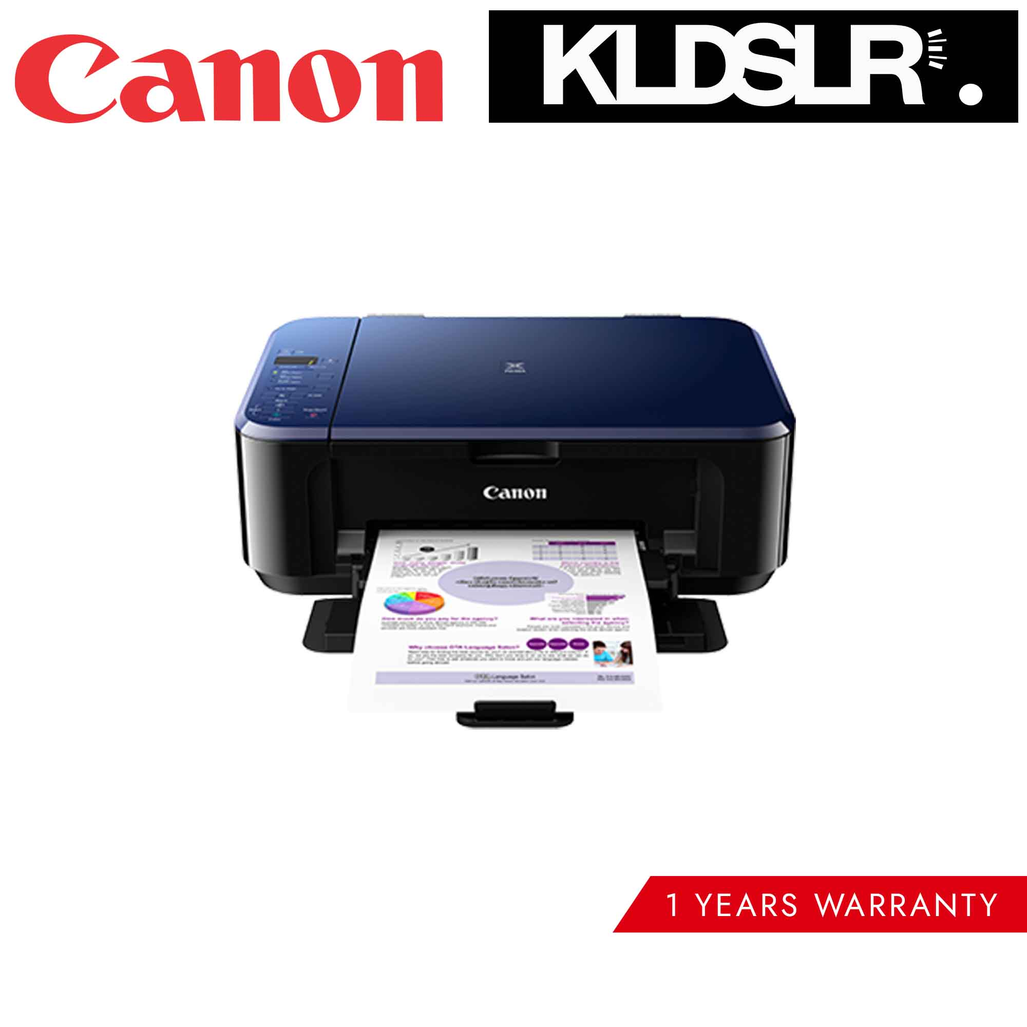 Canon Pixma E510 Ink Efficient 3 in 1 Inkjet Printer (Canon Malaysia)